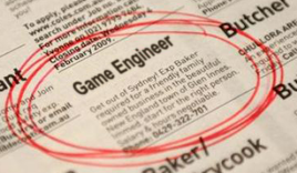 Game Engineer Newspaper Clipping