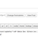 Screenshot of custom QuickTags added to HTML editor.
