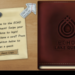 ECHO - Lake Quest includes a variety of games, trivia, and educational material for guests at the ECHO Lake Aquarium