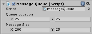 Queue Location and Message Size are pixel values.