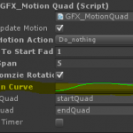 AnimationCurve preview in the inspector.